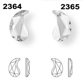 Swarovski 2364 and 2364 Paisley Diagram