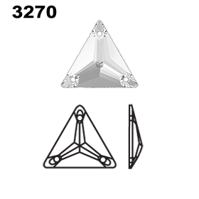 Swarovski 3270 Triangle Sew On Crystals