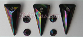 Swarovski Spike Pendants Rainbow Dark