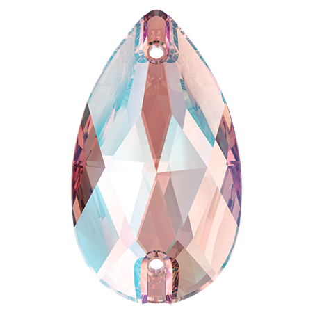 Swarovski 3230 Pear Light Rose Shimmer