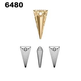 Swarovski 6480 Spike Pendant Diagram