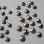 RG Convex Mini Spike Nailheads Hot Fix - Antique Silver