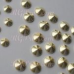 RG Convex Mini Spike Nailheads Hot Fix - Gold