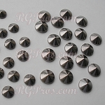 RG Convex Mini Spike Nailheads Hot Fix - Hematite