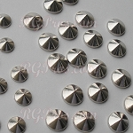 RG Convex Mini Spike Nailheads Hot Fix - Silver
