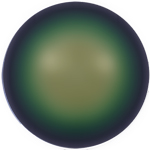 Swarovski 5817 Crystal  Scarabaeus Green (1/2 Drilled) Pearl Cabochon Flat Back - 6mm