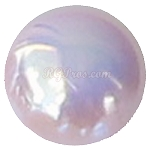 RG Premium Light Rose AB Acrylic Pearl Cabochon Flat Back - 4mm