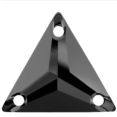 Rhinestone Guy Premium Sew On Triangle - Hematite (UF)
