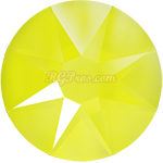 Swarovski Xirius 2078 Electric Yellow Lacquer Pro SS34 Hot Fix Rhinestones