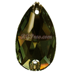 Swarovski 3230 Crystal Tabac Pear (Drop) 28x17mm Sew On Flatback Rhinestone