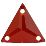 Swarovski 3270 Crystal Red Magma Triangle 16mm Sew On Flatback Rhinestone (UF)