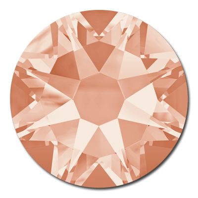 Swarovski Xirius 2078 Light Peach SS12 Hot Fix Rhinestones