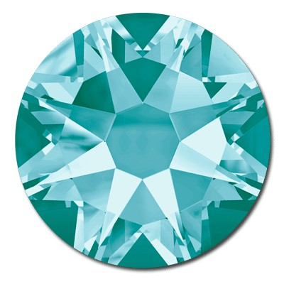 Swarovski Xilion 2038 Light Turquoise SS 6 Hot Fix Rhinestones