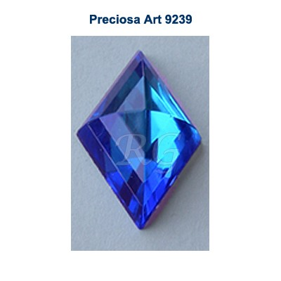 Preciosa 9239 Flat Back Diamond Rauten - Bermuda Blue
